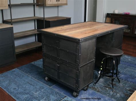 industrial style kitchen island buy a hand made kitchen island work station vintage