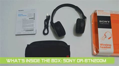 Sony Wireless Headset Dr Btn200m what s inside the box sony bluetooth headset dr btn200m