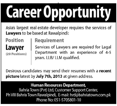 in house real estate lawyer jobs lawyers job opportunity 2018 jobs pakistan jobz pk