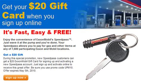 Where Can I Use Exxon Mobil Gift Card - free 20 exxon mobil gift gas card mojosavings com