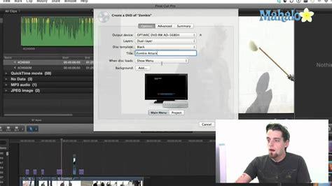 final cut pro burn dvd create a dvd final cut pro x youtube
