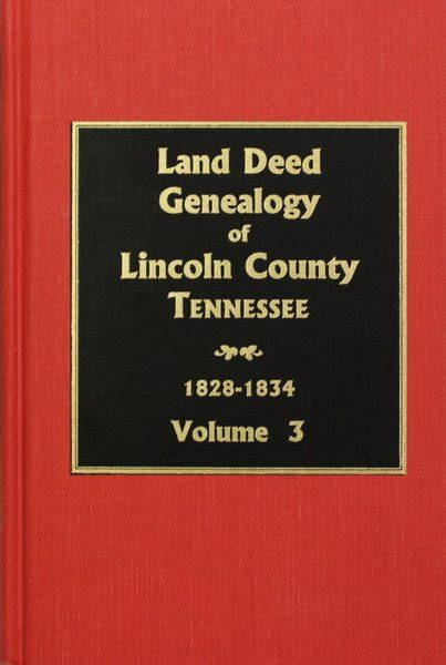 U S Records Index Volume 2 Lincoln County Tennessee 1828 1834 Land Deed Genealogy Of Vol 3 Southern