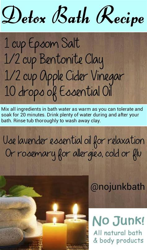 Detox Bath Recipes Without Epsom Salt by Detox Bath Recipe Epsom Salt Bentonite Clay Apple Cider