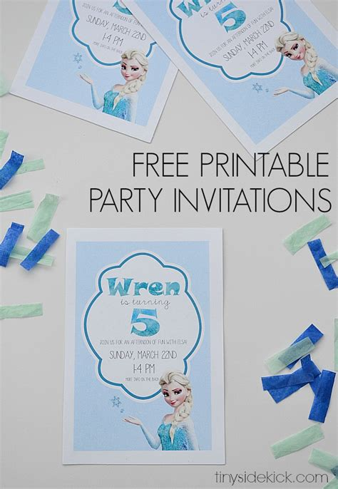 printable frozen birthday party invitations free printable frozen birthday party invitations