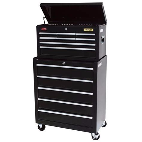 stanley tool chest cabinet rolling tool cabinet chest 13 drawer stanley mechanics pro