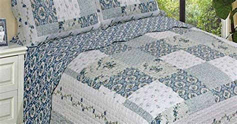 country blue comforter sets country cottage blue floral patchwork quilt coverlet and