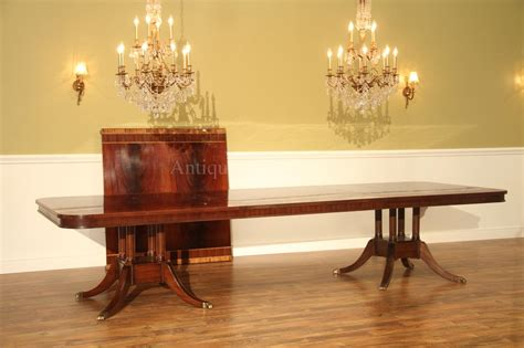 large dining room table seats 20 extra long 16 foot triple pedestal mahogany dining table w