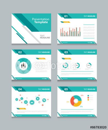 graphic design powerpoint presentation vector business presentation template set powerpoint