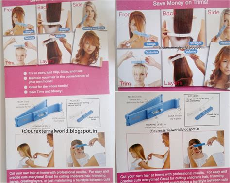 directions on how to cut hair exactly like lisa rinnas creaclip how to cut your own hair with ease and accuracy