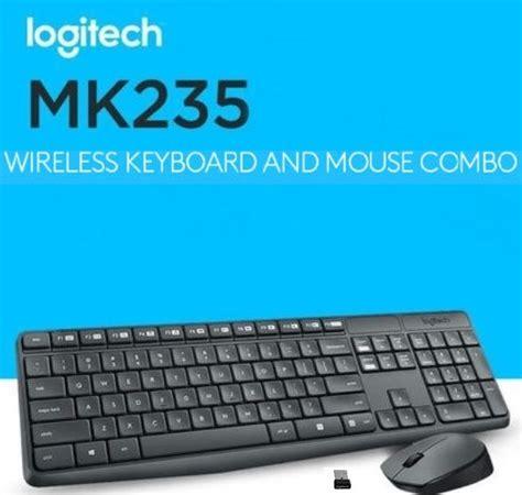 Sale Logitech Mk235 Keyboard Mouse Wireless logitech mk235 wireless usb keyboard and optical mouse combo 128 bit aes encryption 2 4 ghz