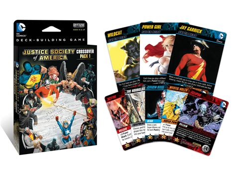 dc deck building card templates dc comics deck building crossover pack 1 jsa