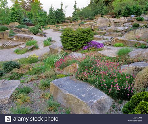 Rock Garden Bellevue with Alpine Rock Garden Bellevue Botanical Garden Washington Stock Photo Royalty Free Image