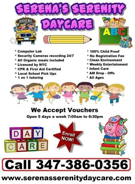 daycare service serena serenity daycare learning center after school up service care