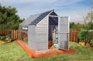 combinaison d une serre de jardin acoll 233 e 224 un abri de jardin