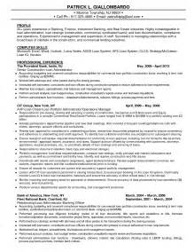 Sle Resume For Investment Banking by Investment Banking Resume For Freshers Sales Banking