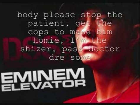 eminem elevator elevator eminem lyrics youtube
