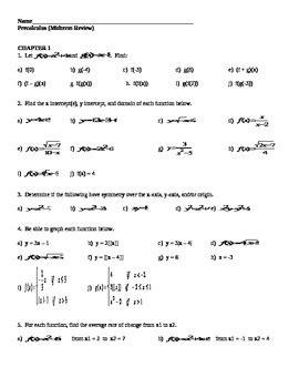 pre algebra midterm exam review precalculus midterm review by a r mathematics tpt