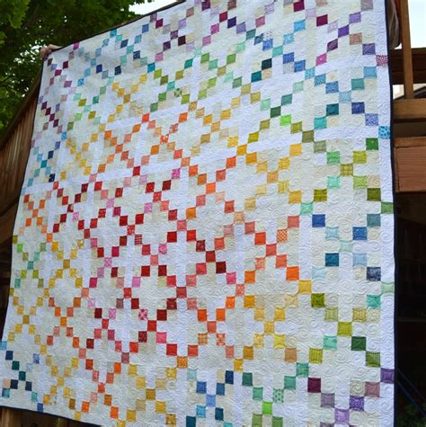 Patchwork Patterns For Free - scrappy single chain quilt favequilts