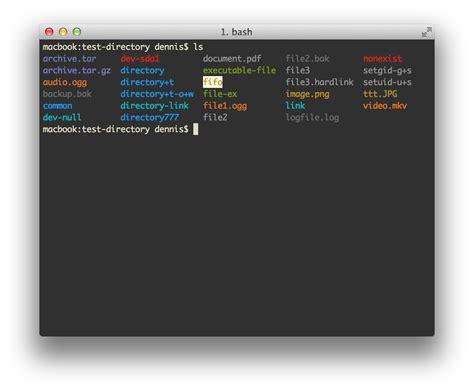 bash color scheme command line mac os x terminal clone for ubuntu ask ubuntu