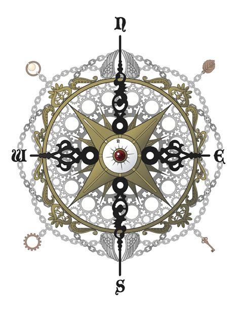 steampunk esque compass would love this as a tattoo j