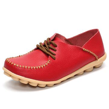 Flat Shoes F 836 New Arrival flat shoes outdoor lace up toe soft comfortable casual loafers us 24 53