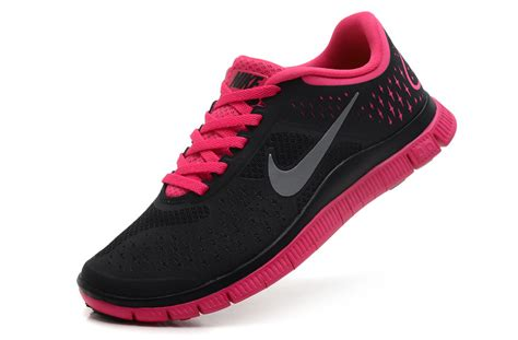 nike free 4 0 v2 s running shoes black pink 73 00
