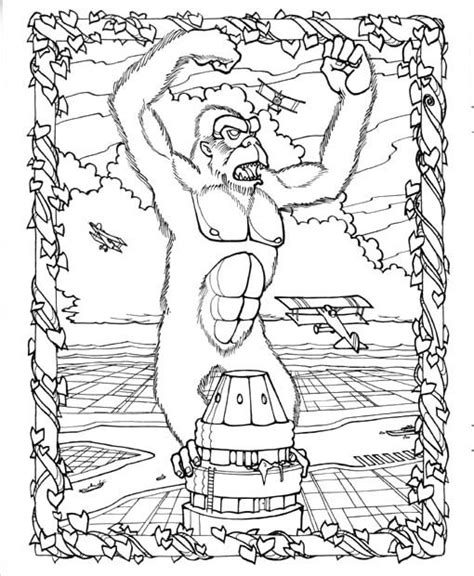 Coloring Page King Kong by King Kong Buildings Coloring Coloring Pages