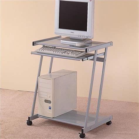 Computer Desk Cart Coaster Desks Contemporary Computer Desk Cart With Keyboard Tray 7173ii