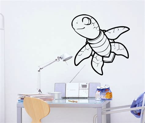 turtle wall stickers stickonmania vinyl wall decals baby turtle sticker