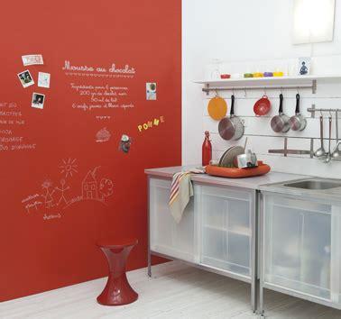 Bien Idee Peinture Cuisine Ouverte #7: peinture-tableau-rouge-sur-mur-cuisine-Gribouille.jpg