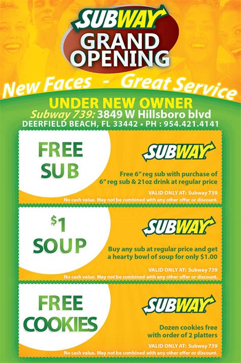 Subway Restaurant Grand Opening Flyer Design Tight Designs Printing Of Florida Subway Poster Template