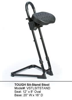 Sit Stand Work Stool by Vidmar Industrial Sit Stand Stool Ergonomic Sit Stand