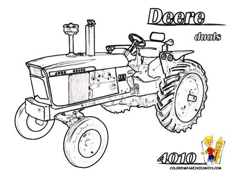 coloring page of john deere tractor tractor coloring pages for kids printable print picture