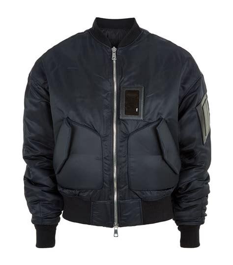 Bomber Pocket Black Bgsr juun j oversized pocket bomber jacket in black for lyst