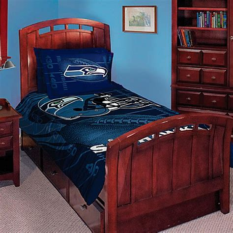 seahawk bedding nfl seattle seahawks twin full comforter set buybuy baby