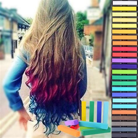 hair chalking a new look at diy hair color stylenoted 24 piece hair coloring chalk ellore femme