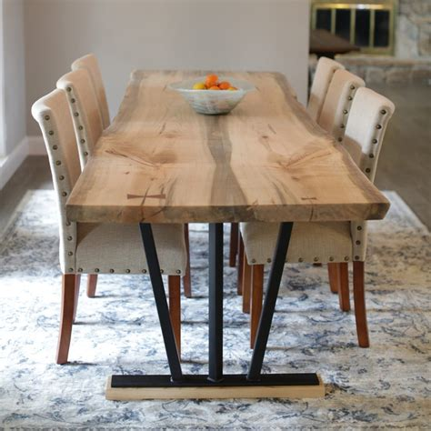 Live Edge Dining Room Table Horizon Westide Collection Spalted Ambrosia Maple Live Edge Dining Table Horizon Home Furniture