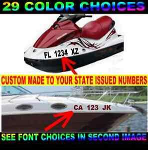 boat hull number size boat registration numbers sticker decal 3 quot hull id jet