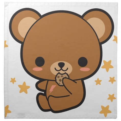 imagenes de osito kawaii kawaii brown bear napkin zazzle
