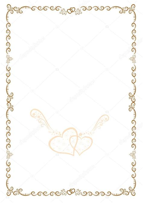 cornice vettoriale cornice oro originale con i cuori per felicitazioni e