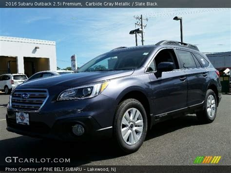 subaru outback black 2016 carbide gray metallic 2016 subaru outback 2 5i premium