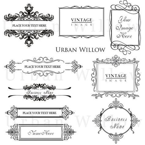 cornici vintage ornement vintage frames pack 7 dessins de style vintage