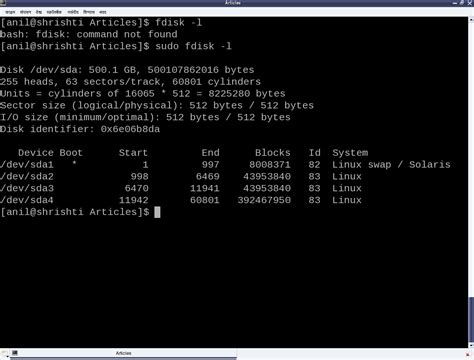 format fat32 linux fdisk dos type partition tables playing with systems