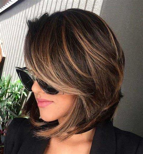 highlight for fine hair 20 brunette bob haircuts short hairstyles 2016 2017