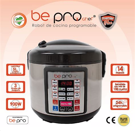 robot de cocina be pro chef be pro chef premier plus robot de cocina programable sin