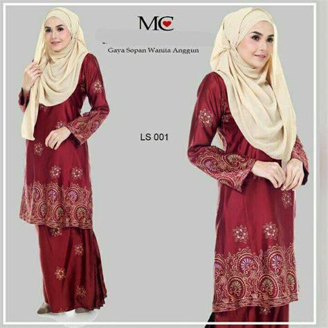 Baju Kurung Pahang Warna Coklat baju kurung pahang lareessa saeeda collections