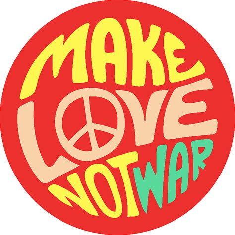 quot make love not war quot stickers by marchiemadness redbubble