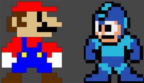 pixelated mario characters pixel megaman meet pixel mario by evilcarcrash on deviantart
