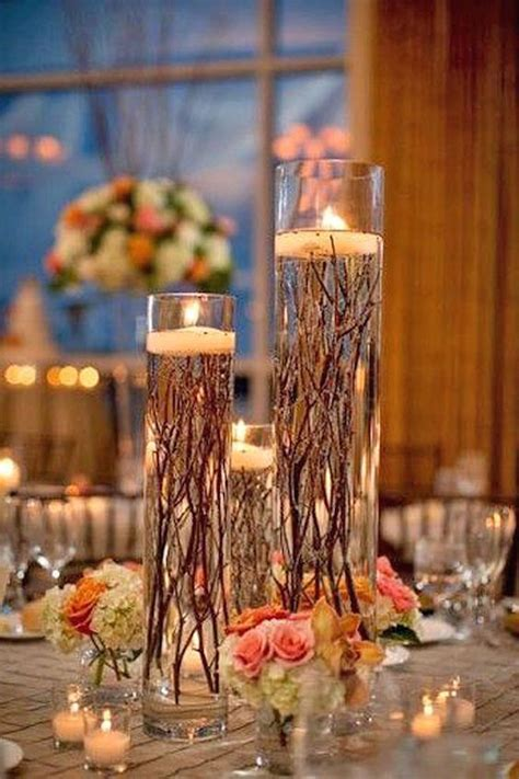 wedding centerpiece ideas using candles candle lighted centerpieces for wedding receptions 24 ideas