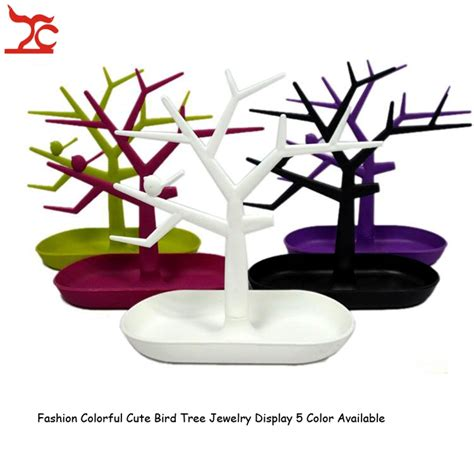 Ring Stand Branded Advan brand new jewelry bracelet necklace earring ring display stand organizer holder colorful plastic